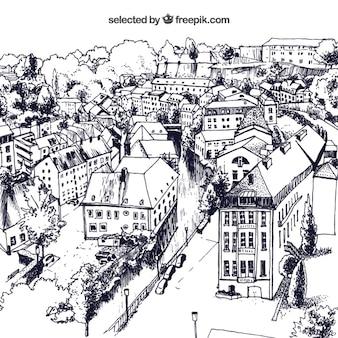 Schetsmatig stad