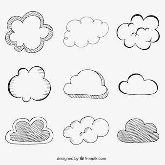 Schetsmatig wolken