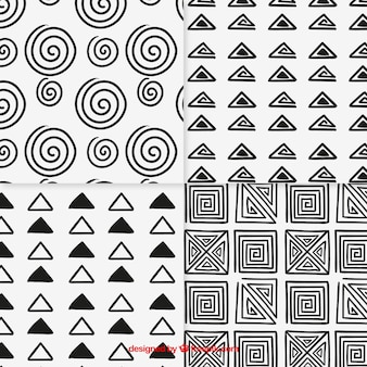 Schetsmatige patronen collectie
