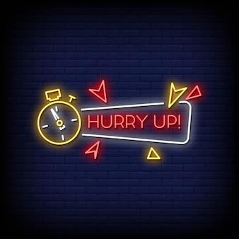 Schiet op neon signs style text
