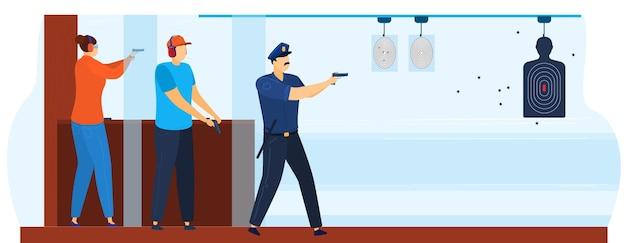 Schietgalerij ter illustratie van politieagent.