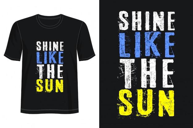 Schijnen als de zon typografie