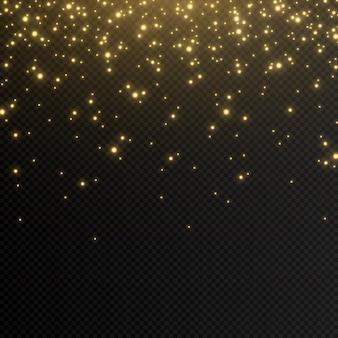 Schijnen. lichteffect, gouden licht.