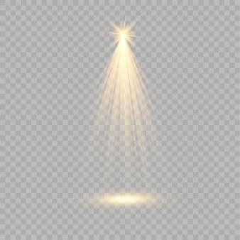 Schijnwerper. lichteffect. gloei geïsoleerd wit transparant lichteffect. abstract speciaal effect elementontwerp.