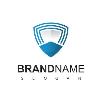 Schild logo ontwerpsjabloon, veilig symbool