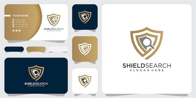 Schild zoek logo ontwerp inspiratie. schild logo ontwerp. zoek logo ontwerp