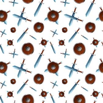 Schilden en zwaarden patroon