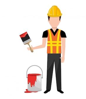 Schilder werknemer man pictogram