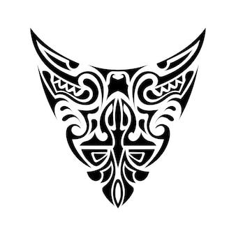 Schilderen in polynesische stijl. polynesië. geschikt voor tatoeages en prints. geïsoleerd. vector.