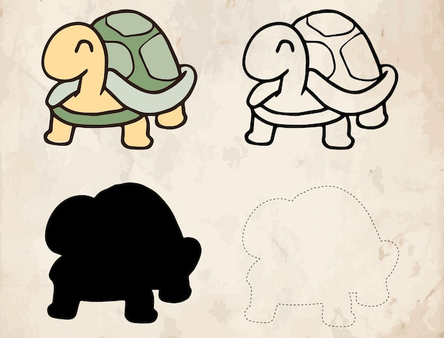 Schildpad cartoon