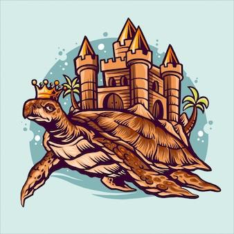 Schildpad koninkrijk illustratie