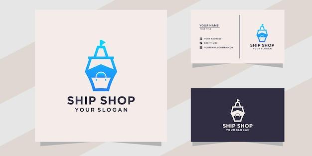 Schip winkel logo sjabloon