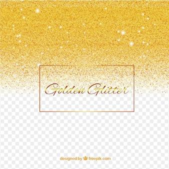 Schitter achtergrond in gouden stijl