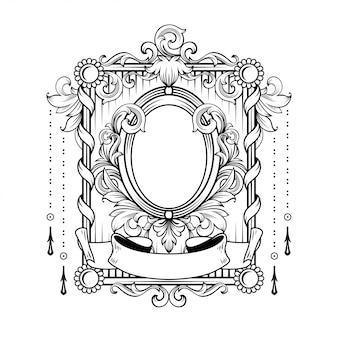 Schitterend barok frame met lege ruimte