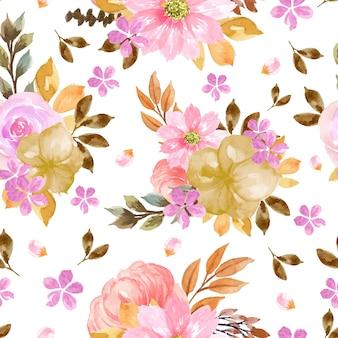 Schitterend kleurrijk bloemen naadloos patroon