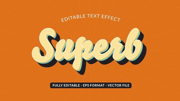 Schitterend retro bewerkbaar teksteffect