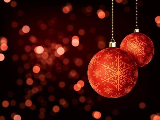 Schitterend vrolijk kerstmisontwerp als achtergrond met snuisterijenelementen