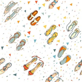 Schoenen naadloos patroon