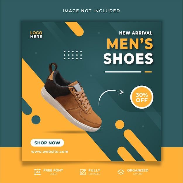 Schoenen sale social media bericht sjabloon Premium Vector