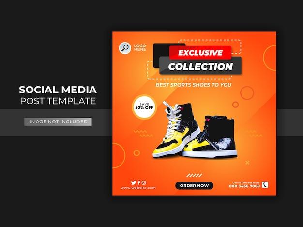 Schoenen verkoop sociale media post sjabloon