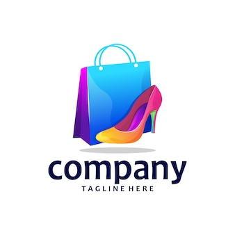 Schoenenwinkel logo ontwerp verloop