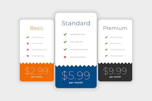 Schone abonnementen en prijsvergelijkingsboxen