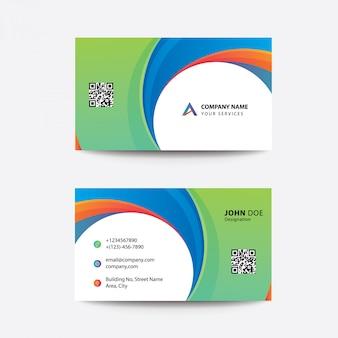 Schone flat premium minimale stijl multi color zakelijke visitekaartje