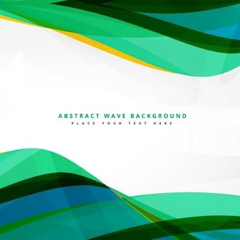 Schone groene golvende achtergrond ontwerp