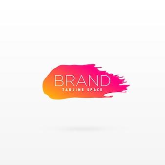 Schone penseelstreek symbool in mooie kleur voor uw merk logo