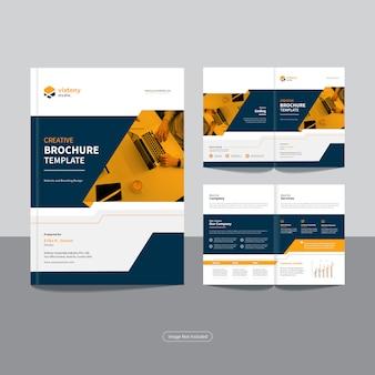 Schone zakelijke bi-fold zakelijke brochure ontwerpsjabloon