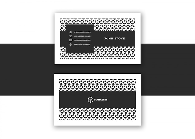 Schone zakelijke creatieve kleurrijke minimale visitekaartje