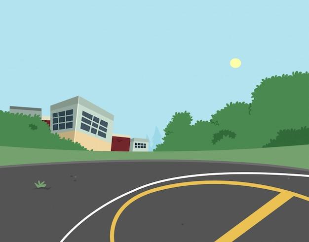 School achtertuin scène