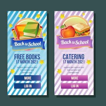 School banner verticale boek catering