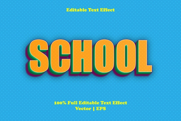 School bewerkbaar teksteffect