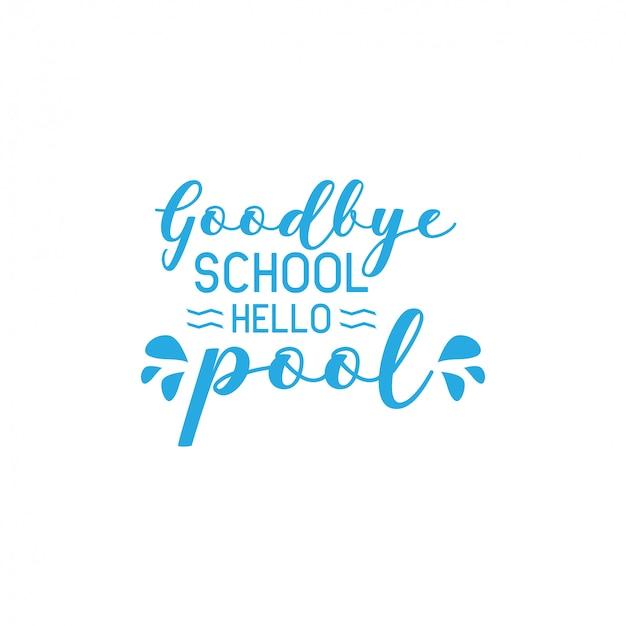 School citaat belettering typografie