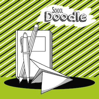 School doodle cartoon