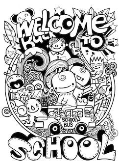 School doodles ontwerp