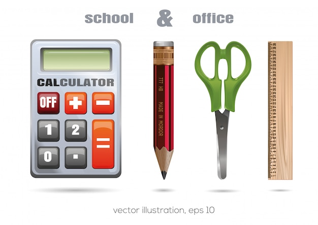 School en kantoor pictogramserie. illustratie