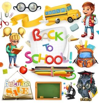 School en onderwijs. terug naar school