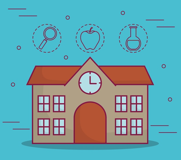School gebouw pictogram
