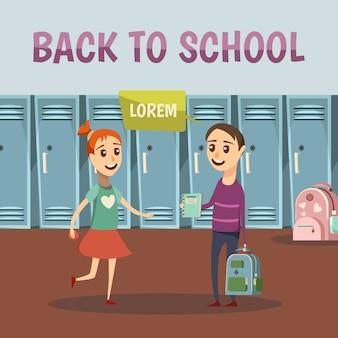 School gekleurde orthogonale achtergrond