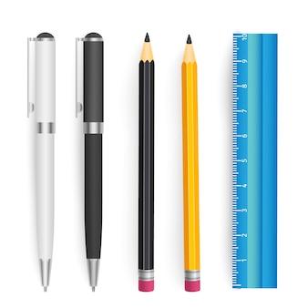 School gereedschappen vector set