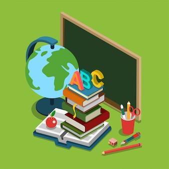 School hogeschool universitair onderwijs isometrisch concept