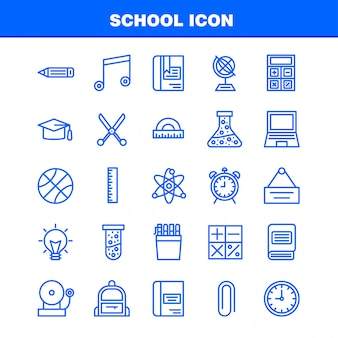 School icon set