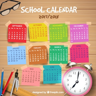 School kalender 2017-2018