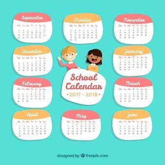 School kalender met kinderen