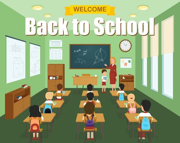 School klaslokaal sjabloon