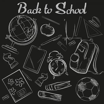 School krijt schets schoolbord