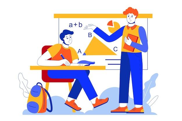 School leren webconcept