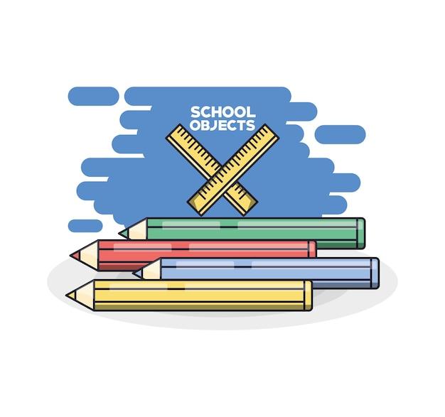 School levert kleurpotloden